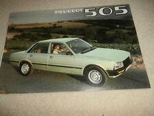 PEUGEOT 505 SALOONS 1980  Sales Brochure