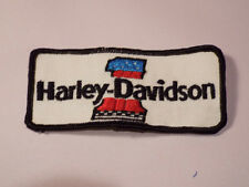 "Vtg Harley Davidson Motorcycle #1 Jacket Patch 4.75"" x 2"" Sew On 1970's Denim Bk"