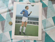 Brian LABONE  Everton & England  TYPHOO Tea Players Signature Card 1960's