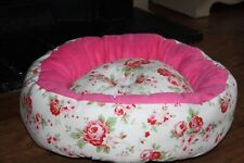 X Large New Handmade Deep Filled Cath Kidston Designed Fabric Pet Bed Basket