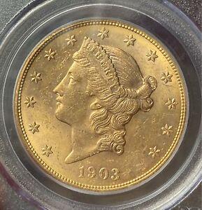 1903-S $20 Gold Liberty PCGS MS61