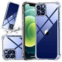 For Apple iPhone 12 11 Pro 7 8Plus X XR XS MAX SE2 12 Mini Shockproof Clear Case