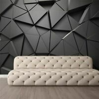3D Custom Wallpaper Photo Stereo Geometric Abstract Gray Triangles Background