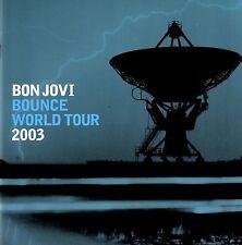 BON JOVI  2003 BOUNCE TOUR CONCERT PROGRAM BOOK / RICHIE SAMBORA / BLUE