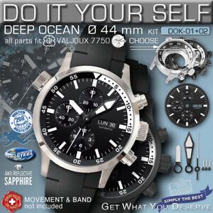 DO IT YOURSELF KIT: 7750 ETA-VALJOUX, DEEP OCEAN, 44 MM, 200M,  KIT 01+02,