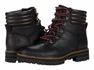 Timberland London Square Mid Hiker Boot (Black Full Grain,Black Leather)