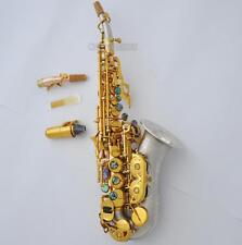 Customized Curved Soprano Saxophone Rose Brass Bb Sax 2 Neck Leather Case