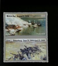 2014 49c Civil War, Mobile Bay, Petersburg, Pair Scott 4910-11 Mint F/VF NH