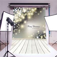 Photography Backdrops Christmas Wooden Floor Vinyl Baby Background Photo 5x