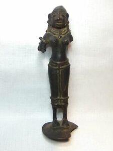 India 16th c Hindu Copper - Bronze Female Deity