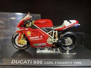 Scarce Deagostini Ducati 996 Carl Fogarty 1999 Diecast Racing Motorcycle Model