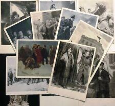Postcard Set 13 pcs World War II Young Guard Artwork Illustration Vintage Cards