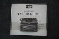 Royal Classic Manual Metal Typewriter Keyboard Machine Open Box