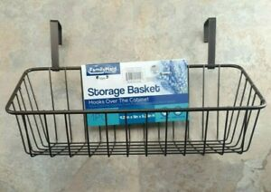 Over The Cabinet Door Basket 11.2x5 Heavy Duty Metal Construction FREE SHIPPING