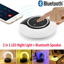 Portable 3W 14LED USB Charging Night Light Table Lamp Wireless Bluetooth Speaker