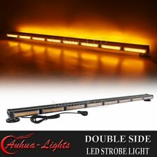 "50"" Amber COB LED Warning Strobe Light Bar Flashing Emergency Beacon Signal 288W"
