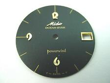 Mido Watch Dial Ocean Star Powerwind Vintage Black 28.06mm Gold Stick Markers