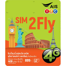 AIS SIM2Fly World Europe USA 4GB/15 Days Traveller Roaming Data PAYG Prepaid SIM