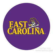 "East Carolina Pirates ECU RR 4"" Round Vinyl Magnet Auto Home University of"