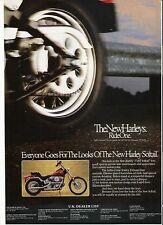 Harley Davidson FXST Softail classic period motorcycle advert 1989