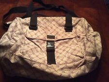 Gray and Purple Nylon Lauren Ralph Lauren Logo Laptop Bag