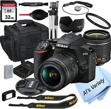 Nikon D3500 DSLR Camera with 18-55mm VR Lens + 32GB Card, Tripod, Case, and More