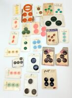 Vintage Carded buttons some from the 1940's all over 25 years old