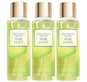 3 Victoria's Secret PEAR GLACE Classic Body Fragrance Mist Spray 8.4 oz