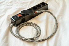 EU Euro AC Power Socket with Textile Cable switch 3way Schuko Textile Bakelit
