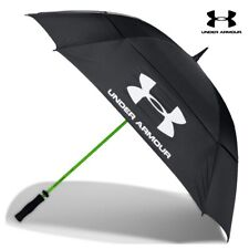 "Under Armour 2019 UA 68"" Double Canopy Rain Sun Golf Umbrella Waterproof Black"