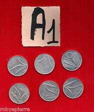 lotto 10 lire repubblica italiana italy 6 monete 1955 1973 1979 1980 1981 1982