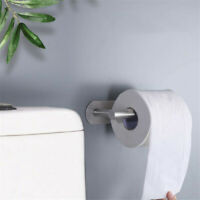 Stainless Steel Toilet Paper Holder Tissue Roll Storage Hook Wall Mount Bathroom