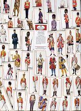 """CARRERAS 1976 SET OF 50 """"MILITARY UNIFORMS"""" CIGARETTE CARDS"""
