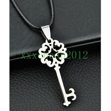 Classic retro Stainless Steel key Pendant Necklace ST201