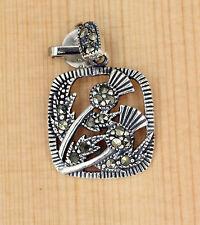 Anhänger  Silber Schmuck -  Markasit -  Blumen Thistle Distel  Schottland