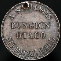 1857 | New Zealand A.S. Wilson Dunedin Penny Token | Tokens | KM Coins