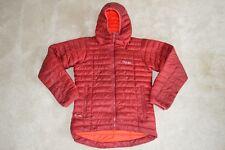 Rab Burgundy / Orange Nimbus Quilted Zip Through Jacket Coat Mens Small S
