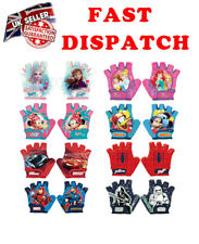 Disney FROZEN PRINCES CARS AVENGERS Bike Cycle Scooter Gloves Half Finger 4-6y