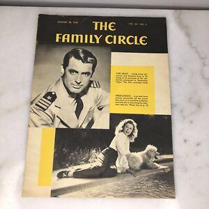 The Family Circle Magazine January 28, 1944 Cary Grant and Greer Garson