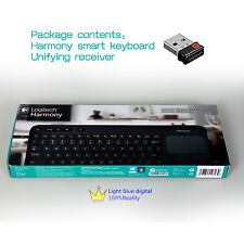 NEW Logitech 915000241 Harmony wireless smart touch pad keyboard with receiver