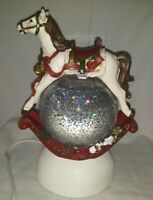 Dillard's Trimmings ROCKING HORSE Shimmer Water Globe - Light Up Glitter Globe
