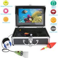 "10"" Inch Color Monitor 20M 1000tvl Underwater Fishing Video Camera Kit 6 PCS LED"