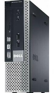 FAST DELL WINDOWS 10 PC DUAL CORE 3.6Ghz I3 250GB HDD 4GB ULTRA SMALL PC 9020
