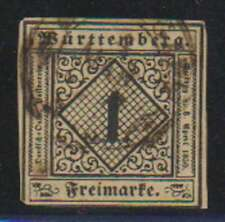 D0187: Wurttemberg #1 Used, VF, Sound; CV $95