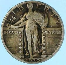 Toned 1930-S Standing Liberty Quarter US 90% Silver Coin US Lot E389