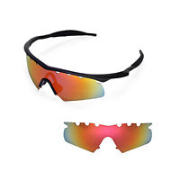 New WL Polarized Fire Red Vented Replacement Lenses for Oakley M Frame Hybrid