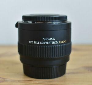 SIGMA APO TELE CONVERTER 2X EX DG FOR NIKON CAMERAS WITH BOTH CAPS & POUCH