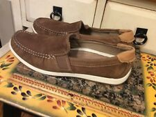 ECCO Classic Moc Brown Leather Driving Loafers Men's Size US 7 Eur 40, EUC