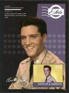 Antigua & Barbuda 2015 MNH Elvis Presley His Life in Stamps Music 1v S/S IV