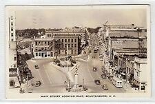 MAIN STREET, SPARTANBURG: South Carolina USA postcard (C6432).